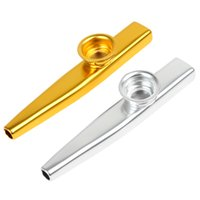 Wholesale 2015 hot sale Musical Instrument sales Metal Kazoo with Flute Diaphragm Colors Optional fit for all ages MIA_632