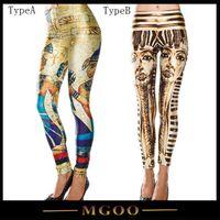 Wholesale MGOO Egyptian Pyramide Print Leggings For Women Workout Clothes Leggings For Woman