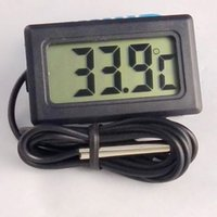 Wholesale 1pc LCD Display Car refrigerator aquarium fish tank embedded electronic digital thermometer SZ01049