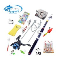 baitcasting rod and reel - 15 Accessories Portable Carbon Rod Combo Sea Fishing Rods And Reels Ocean Saltwater Fishing Baitcasting Telescopic Carp Tuna Set