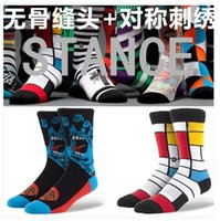Wholesale MOQ New Fashion Man Women Socks Skateboard Socks Stance Style Sport Thickening Top Quality US Branded Style Socks with Embroidered LOGO
