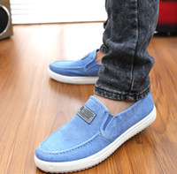 b joker - Hot Sale Leisure Shoes Male Comfortable Slip On Shoes For Lazy Men Breathable Mens Canvas Shoes Joker Man Loafers Retail H843