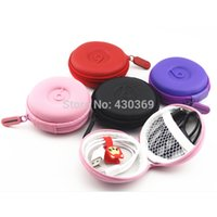 Wholesale 1Pcs Leathe Carrying Hard Hold Case Storage Bag Box for Earphone Headphone Earbuds SD Card Brand New