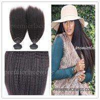 #613 affordable brazilian hair - Premierlacewigs Stock A Brazilain Virgin Human Hair wefts italian Kinky Straight Human Hair waves affordable hair extnesions bundles a