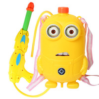 Wholesale 2015 Minions backpack Water Gun kids Despicable me Water Fun outdoor play sand play toys children s gift