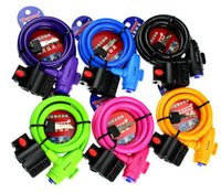 Wholesale New Brand Multi color durable Bicycle Bike Security Lock Steel Wire with Bracket Bike Lock mm mm