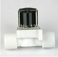 Wholesale Normally Closed electric Valve With Whorl quot BSPP Ways Plastic Solar Solenoid Water Valve V V V Water Gas