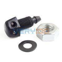 Wholesale 2pcs Universal Car Vehicle Front Windshield Washer Sprayer Nozzle Plastic Black order lt no track