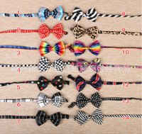 Wholesale 2015 New arrival Children s tie dog bow ties pets supplies dog tie Random color GLD7