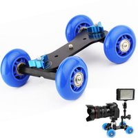 Wholesale Max Load kg Mini Car Desktop Mute Slide Rail Car Three Screw Interfaces Connect PTZ Magic Arm ect Support DSLR Camcorder