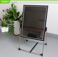 Wholesale 2016 Fluorescent Toughened glass led advertising board blackboard message board promotional display fluorescence plate fluorescence
