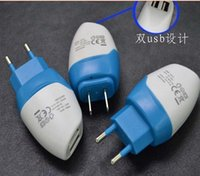 ac dolphins - Mili Dolphin Mini USB Dual Port EU US Plug Wall Charger AC Home Travel Charger Adapter For iPhone Samsung iPod iPad Smartphone