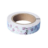 Wholesale 1pcs cm x m Floral Fabric Masking Washi Tape Birthday Party Decoration DIY Sewing All For Wedding