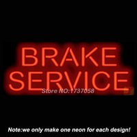 advertising design services - Brake Service Neon Sign Handcrafted Neon Bulbs Advertising Custom Design Gifts Real Glass Tube Store Display Art Sign x13