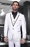 best colors weddings - New Arrivals One Button colors Groom Tuxedos Notch Lapel Groomsmen Best Man Mens Weddings Prom Suits Jacket Pants Vest Tie NO