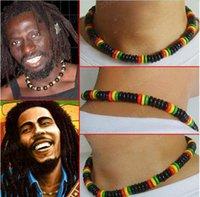 rocking skateboard - Fast Shipping Men Women Jamaica Reggae Necklace hiphop rock fashion skateboard street wooden Jewelry colorful Rasta man Flexible cm