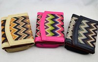 Wholesale New Women Vintage Aztec Trifold Wallet Purse Tribal Card Holder Organizer