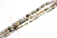 bamboo agate - Natural Stone bamboo leaf agate Round Loose Beads quot Strand MM For Necklace DIY Making F00244