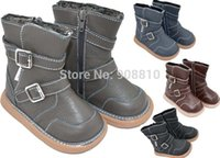 Wholesale Hot boys autumn boots soft leather with straps and buckles baby shose things fashion ankle boots retail