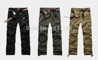 best cargo - BEST PRICE NEW men pants cargo men cargo pants Cotton Jeans Trousers Khaki Green Brown Black Big Size