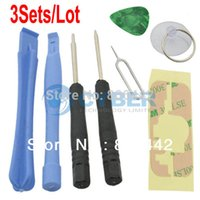 Wholesale 3Sets in Repair Pry Kit Opening Tools Set Special Repair Kit Set For Apple iPhone S G GS
