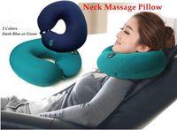 salon furniture - 2015 Real Corner Sofa Beauty Salon Furniture New U type Electric Massager Pillow Cushion Office car Nap Neck Care Six speed Adjustable