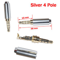 Wholesale Sliver Mini Pole mm Repair headphone Jacks Plug Metal Audio Soldering Cover