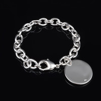 Wholesale with tracking number Top Sale Silver Bracelet Europe licensing round Bracelet Silver Jewelry cheap