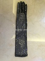 beautiful michael jackson - Michael Jackson sequined glove of stage Adult evening singer gloves Absolutely beautiful and radiant This is a long section