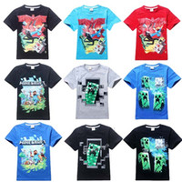 factory clothes - Cartoon Christmas Minecraft T shirts Creeper Face Baby Boy Clothes Kids Clothes Boys Clothing For Y Summer Styles DHL Factory