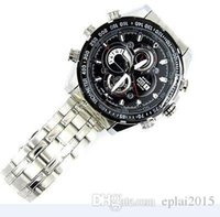 Wholesale 8GB P SPY HIDDEN Camera Video Mini DV DVR Steel Wrist Watch Night Vision M