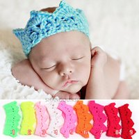 Wholesale 2015 Baby headband crown headdress colorful chic wool headband Baby accessories Photo props W004A