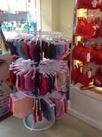 Cheap Wrought iron clothing store shelf bra underwear show shelf circle landing aircraft that can rotate