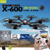 Wholesale Amazing MJX X600 SYNC IMAGE G RC quadcopter drone axis can add C4005 wifi camera FPV VS Syma X5SW JJRC V686 CX30W