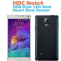 Wholesale 5 quot Note phone MTK6582 Quad core ROM GB RAM GB cell phones android4 Smartphone G GPS Fingerprint Note4 Mobile Smart phone
