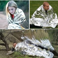 Wholesale Waterproof Emergency Survival Foil Thermal First Aid Rescue Blanket DHL