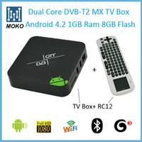 Cheap DVB-T2 HD Set top box terrestrial digital television TV receiver Dual Core DVB T2 TV Box + Air mouse Keynoard RC12
