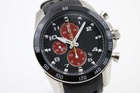 japanese ceramics - Special Limited Edition Japanese Alarm Chronograph Men s Sportura Wristwatch Black Ceramic Bezel Leather Belt Male Watch