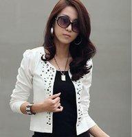 Wholesale New Fasion Women Rivet Jacket Small Suit OL Hot Drilling Female Short Coat Factory price Women s blazers D10