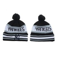 Wholesale Hottest NY Beanies Grey Black Baseball Hats Brand Sports Team Beanie Hats Cool Yankees Hats Knitted Beanie Caps Leisure Beanies