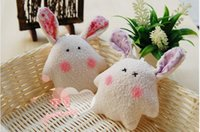 Wholesale lovely rabbit wedding gift doll bag small plush toys