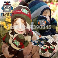 suits for 4 year old boys - Babies Knit Hats With Gloves Unisex Wool Caps Sets Suit For Age Months To Years Old