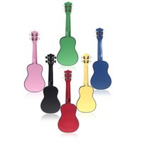 Wholesale 21in Compact Ukelele Ukulele Basswood Soprano Acoustic Stringed Instrument Strings Candy Colors for Choose