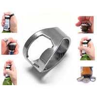 beautiful beers - Bar Tool Finger Ring Bottle Opener Beautiful Gift Stainless Steel beer opener Magic Creative Gifts