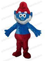 Wholesale AMC0017 Papa Smurf mascot costume fancy dress costumes cartoon costumes adult animal costume kids party costumes