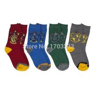 Wholesale New fashion Color College Sock Harry Potter School Crest Sock Cosplay