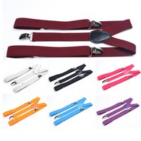 Wholesale Fashion Classic Check Mens Lady Elastic Clip on Adjustable Brace Suspenders XJJ0321W