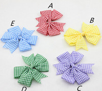 Cheap 10%off 2015 New Plaid Boutique Hair Bow with Clips for Girl Hair Accessories Princess Girl Hairpin Barrettes Baby girl Accessories 20 pcs lo