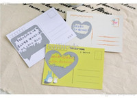 Wholesale 3 sets pieces NEW Cute Scratch off Sticker for Secret PostCards Greeting Message Card Creative item