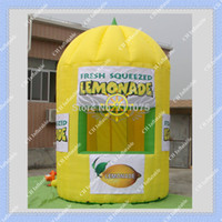 Wholesale Hot Inflatable Lemonade Booth DHL CE or UL certificated Blower included Inflatable Lemon Booth